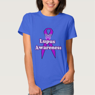 Lupus Awareness Ribbon with Butterfly T Shirt