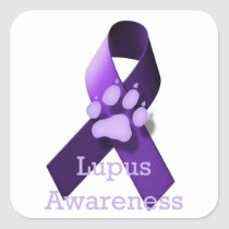 Lupus Awareness Square Sticker