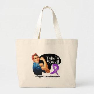 Lupus Awareness Take a Stand Large Tote Bag