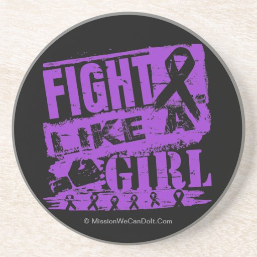 Lupus BurnOut Fight Like a Girl Drink Coasters