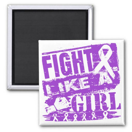 Lupus BurnOut Fight Like a Girl Refrigerator Magnets