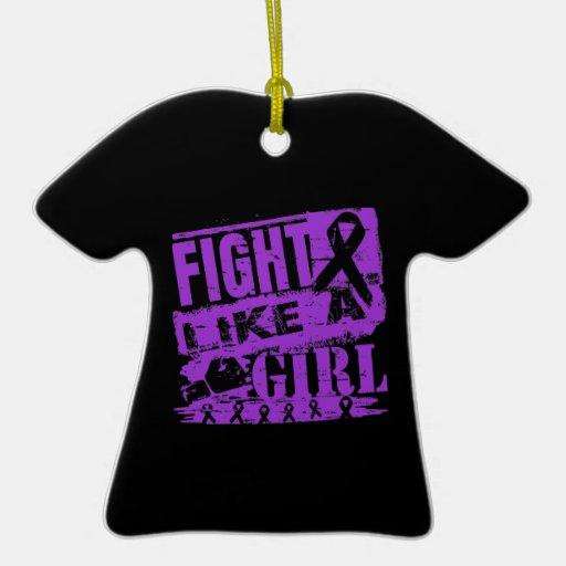 Lupus BurnOut Fight Like a Girl Ornament