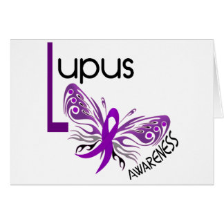 Lupus BUTTERFLY 3 1 Greeting Card