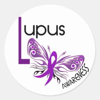 Lupus BUTTERFLY 3 1 Round Sticker