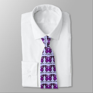 Lupus Butterfly Awareness Ribbon Neck Tie