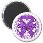 Lupus Butterfly Circle of Ribbons Fridge Magnets