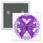 Lupus Butterfly Circle of Ribbons Pins