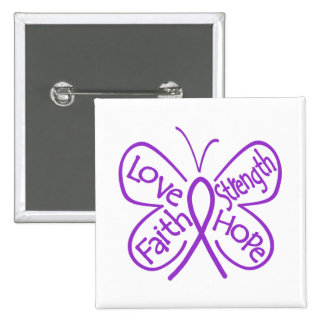 Lupus Butterfly Inspiring Words Pinback Buttons