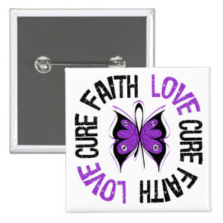 Lupus Cancer Faith Love Cure 2 Inch Square Button