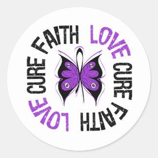 Lupus Cancer Faith Love Cure Classic Round Sticker