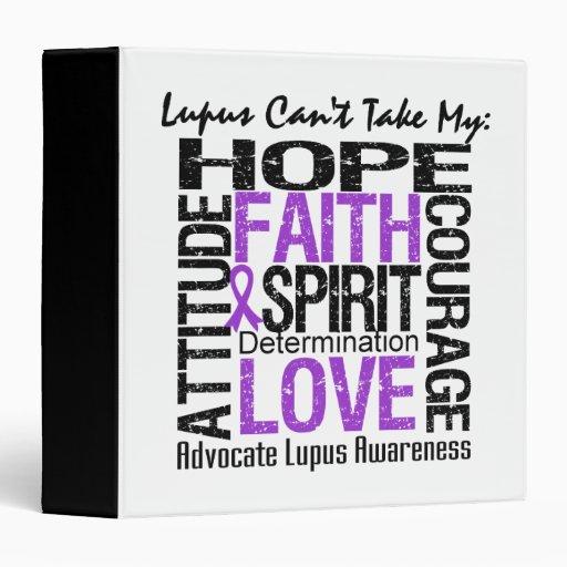 Lupus Can't Take My Hope Collage Vinyl Binder