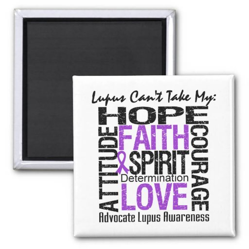 Lupus Can't Take My Hope Collage Magnets
