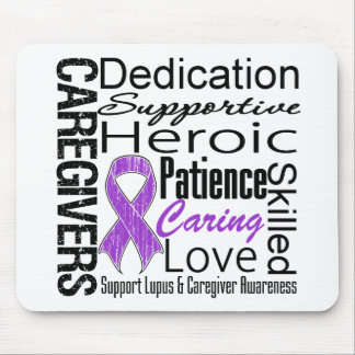 Lupus Caregivers Collage Mousepad