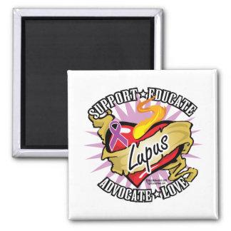 Lupus Classic Heart 2 Inch Square Magnet