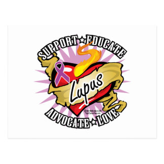 Lupus Classic Heart Postcard