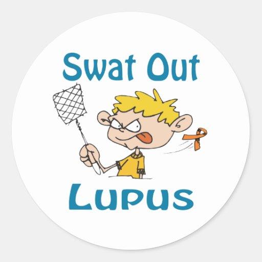 Lupus Classic Round Sticker