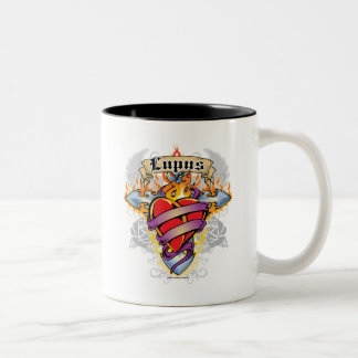 Lupus Cross & Heart Two-Tone Coffee Mug