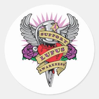 Lupus Dagger Classic Round Sticker