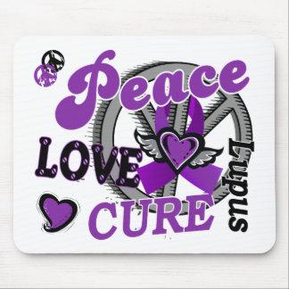 Lupus de la curación 2 del amor de la paz tapetes de ratón