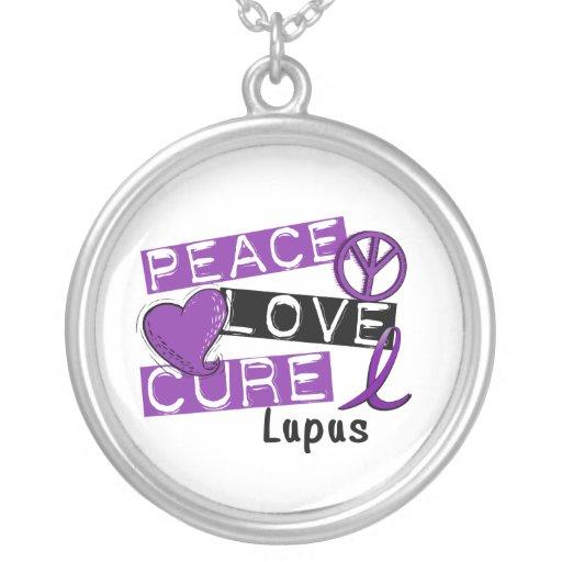 Lupus de la curación del amor de la paz colgante redondo