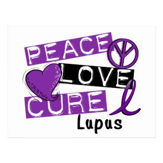 Lupus de la curación del amor de la paz postales