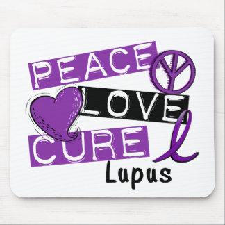 Lupus de la curación del amor de la paz alfombrillas de raton