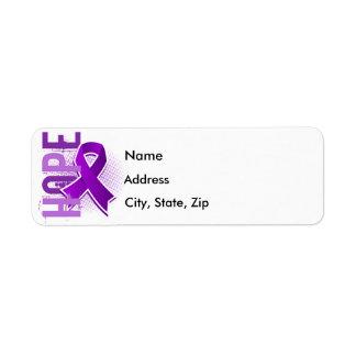 Lupus de la esperanza 2 etiquetas de remite