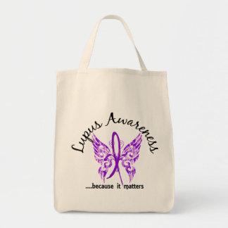 Lupus de la mariposa 6,1 del tatuaje del Grunge Bolsa Tela Para La Compra
