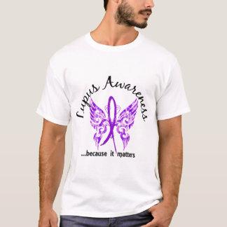 Lupus de la mariposa 6,1 del tatuaje del Grunge Playera