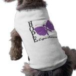 Lupus de la mariposa de la esperanza camisas de perritos