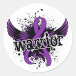 Lupus del guerrero 16 pegatina redonda