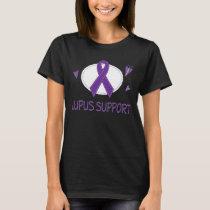 Lupus Disease Support Purple Ribbon Ladies Tee