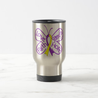 Lupus Endometriosis Butterfly Inspiring Words 15 Oz Stainless Steel Travel Mug