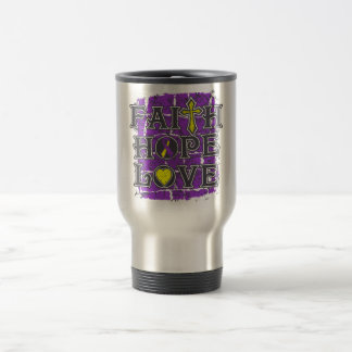 Lupus Endometriosis Faith Hope Love 15 Oz Stainless Steel Travel Mug
