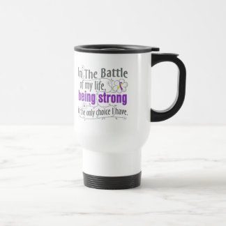 Lupus Endometriosis In the Battle 15 Oz Stainless Steel Travel Mug