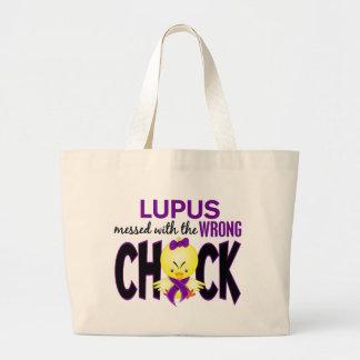 Lupus ensuciado con el polluelo incorrecto bolsa tela grande