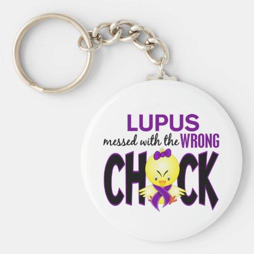 Lupus ensuciado con el polluelo incorrecto llaveros personalizados