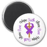Lupus Faith Hope Love Cross Magnets