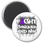 Lupus Fight Conquer and Win Fridge Magnets