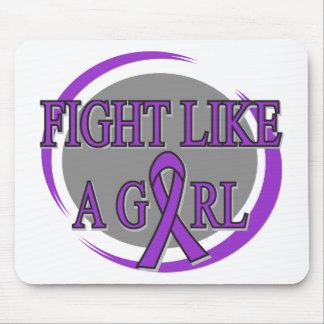 Lupus Fight Like A Girl Circular Mousepads