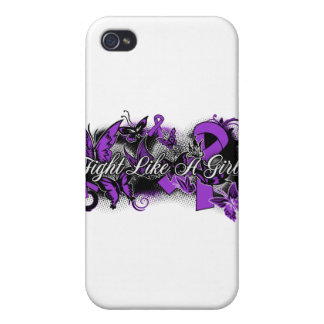 Lupus Fight Like A Girl Grunge Butterfly iPhone 4/4S Cases