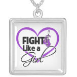 Lupus Fight Like a Girl Heart Pendant