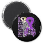 Lupus Fight Like A Girl Kickin Butt Magnets