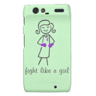 Lupus Fight Like A Girl (Retro) Motorola Droid RAZR Cover