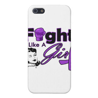 Lupus Fight Like A Girl - Retro Girl iPhone 5 Covers
