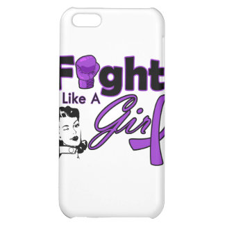 Lupus Fight Like A Girl - Retro Girl iPhone 5C Cover
