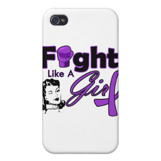 Lupus Fight Like A Girl - Retro Girl Case For iPhone 4