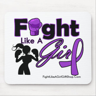 Lupus Fight Like A Girl Silhouette Mouse Pads