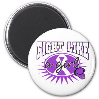 Lupus Fight Like A Girl Sporty Callout Magnets