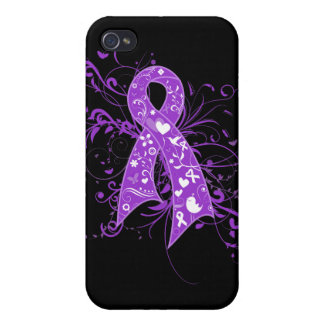 Lupus Floral Swirls Ribbon iPhone 4/4S Cover